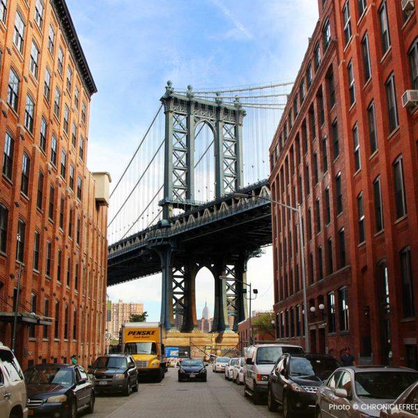 New York vue de Brooklyn photo f. DUBOURG